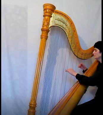 SHR playing harp